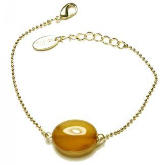Moniekkledingadvies,webwinkel,golded plated armband met agaat steen